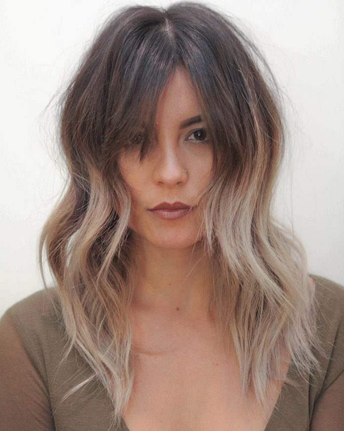 Messy-Bob-with-Bangs Simple Medium Hairstyles for Stunning Look
