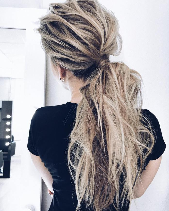 Messy-Ponytail-Hairstyle Cool and Cute Summer Hairstyles for Women