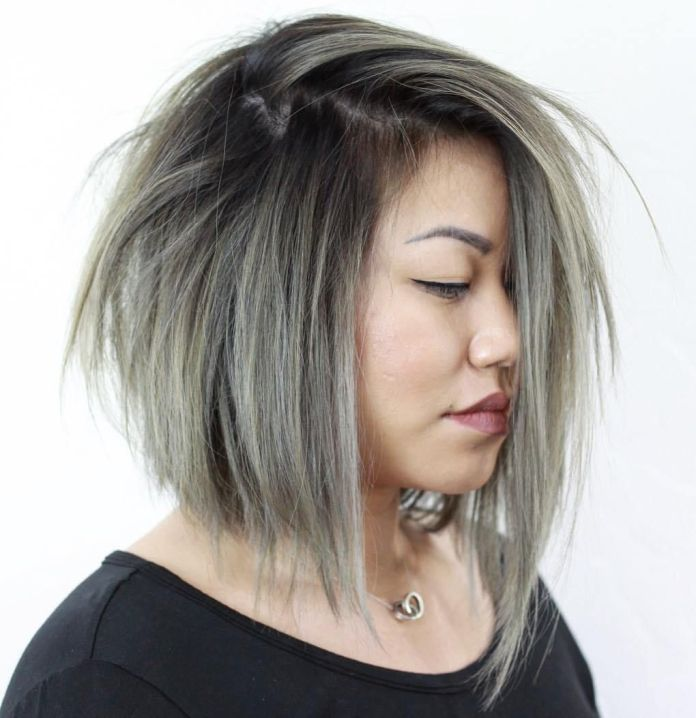 Messy-Uneven-Haircut-for-Chubby-Face Glorious Short Hairstyles for Chubby Faces