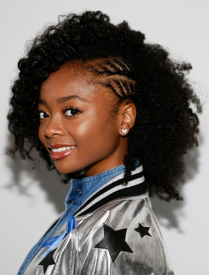 Mini-Afro-Braids Cute and Charismatic Black Girl Hairstyles