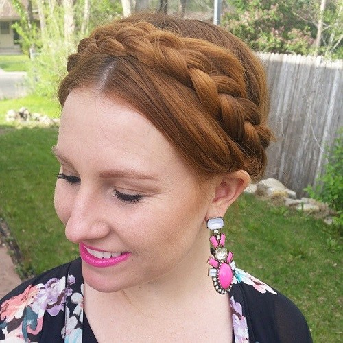 Neat-Crown-Braid Best Milkmaid Hairstyles – Pretty Milkmaid Braid for Women