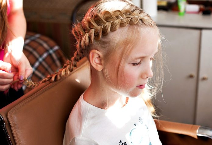 One-Sided-Finnish-Plaits Top Trending Medium Hairstyles for Girls