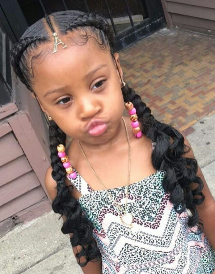 Pigtail-for-the-Day Cute and Charismatic Black Girl Hairstyles