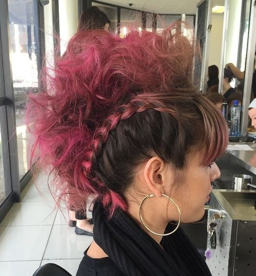 Pink-Ombre-1 Faux Hawk Hairstyle for Women – Trendy Female Fauxhawk Hair Ideas