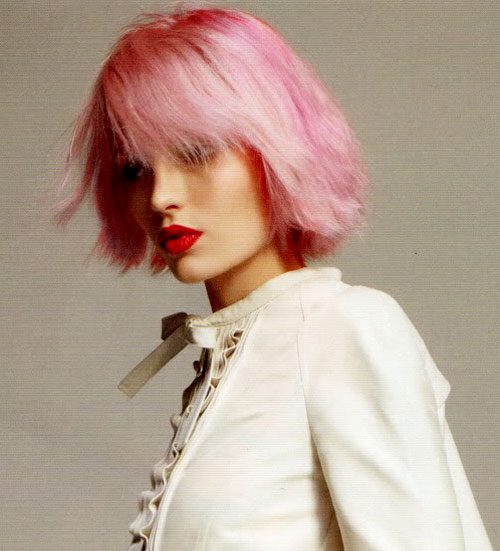 Pink-layered-hair Best Short Hair Colors