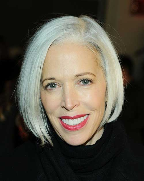 Short-Blonde-Straight-Hairstyle-for-Over-50 Best Short Hair Cuts For Over 50