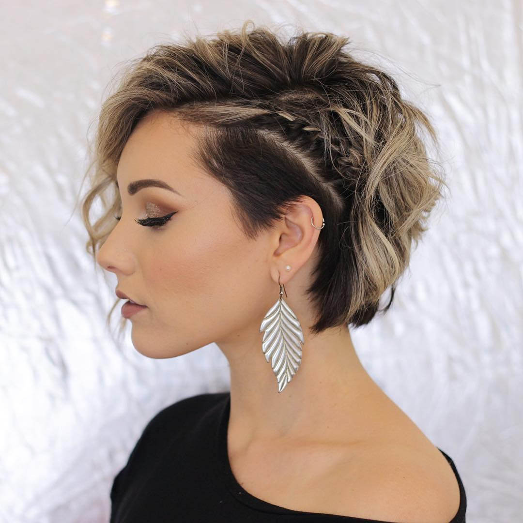Short-Braided-Hairstyle-for-Modern-Days Marvelous Modern Short Haircuts for Women