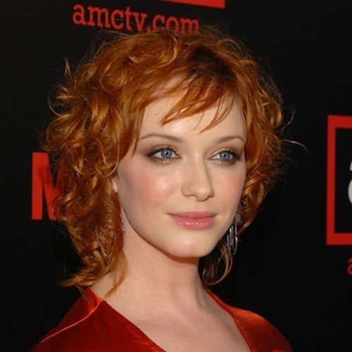 Short-Curly-Hairstyle-with-Bangs-for-Celebrities Celebrity Short Curly Hairstyles