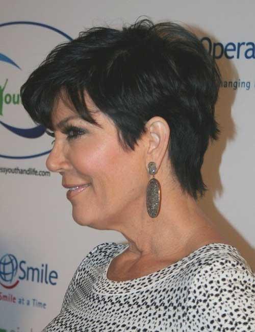 Short-Dark-Pixie-Hair-for-Over-50 Best Short Hair Cuts For Over 50