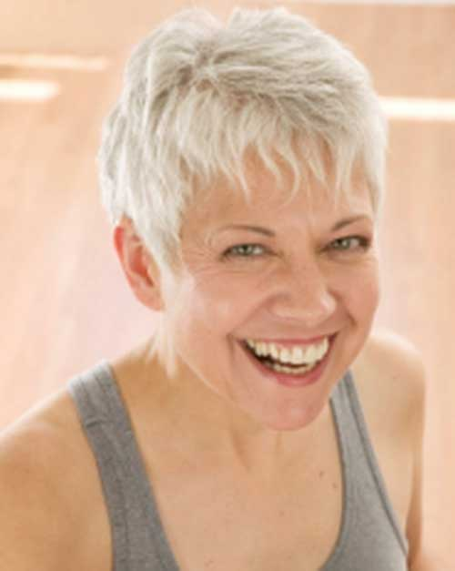 Short-White-Hairstyle-for-Women-Over-50 Best Short Hair Cuts For Over 50