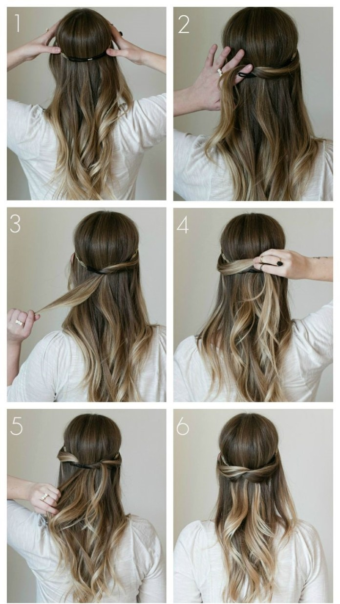 Single-Twisted-Crown Simple Medium Hairstyles for Stunning Look