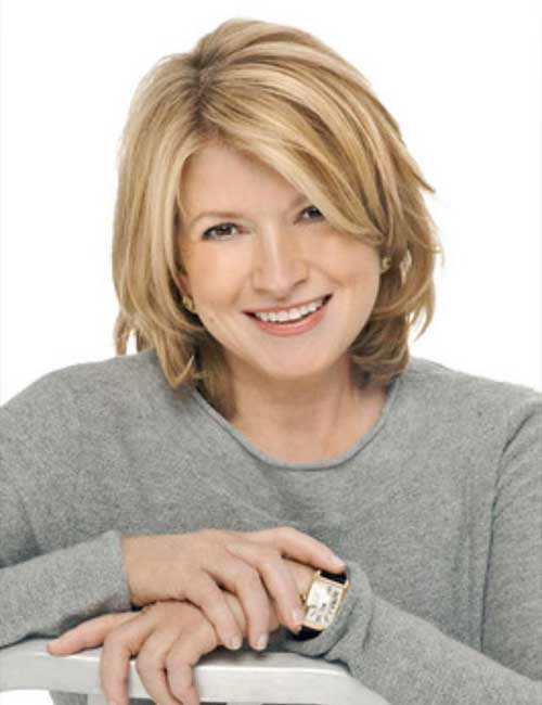 Straight-Short-Blonde-Layered-Haircut-for-Over-50 Best Short Hair Cuts For Over 50