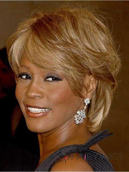 The-Medium-Layered-Straight-Haircut Super Short Haircuts for Black Women