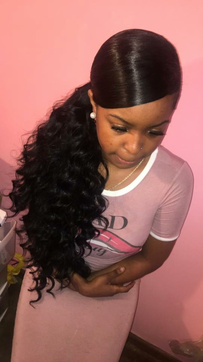 The-Red-Carpet-Ponytail Cute and Charismatic Black Girl Hairstyles