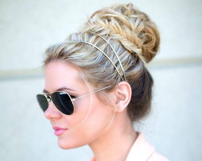Top-Bun-Beach-Look Cool and Cute Summer Hairstyles for Women