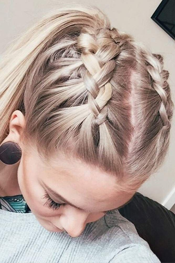 Twin-Braided-Hairdo Cool and Cute Summer Hairstyles for Women