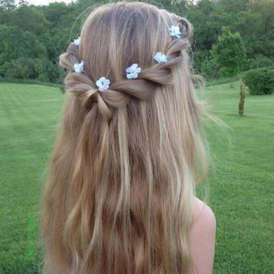 Twisted-Waterfall-Hairstyle Adorable Hairstyles for Long Hair