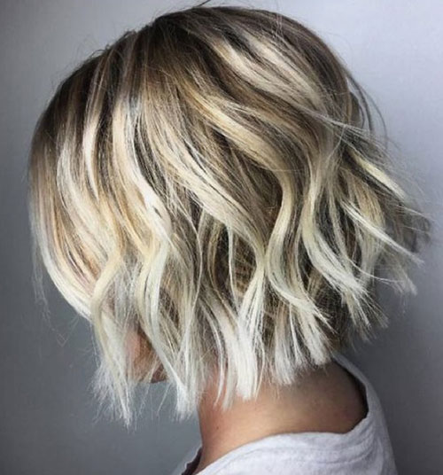 Wavy-Short-Haircut Latest Cute Hairstyles for Short Hair