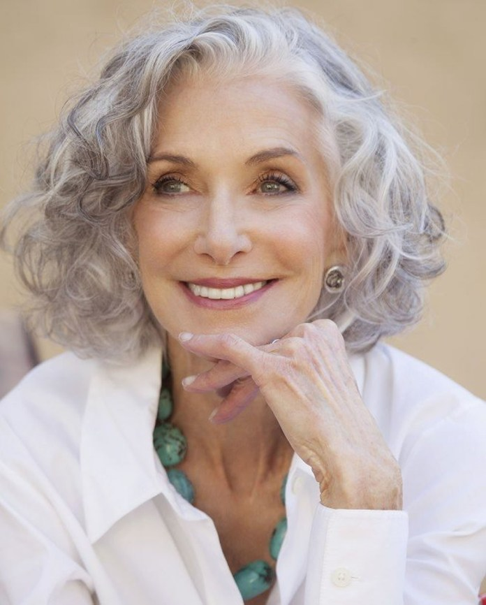 White-Bob-Curly-Hairstyle-for-Older-Women Best Hairstyles for Older Women 2019