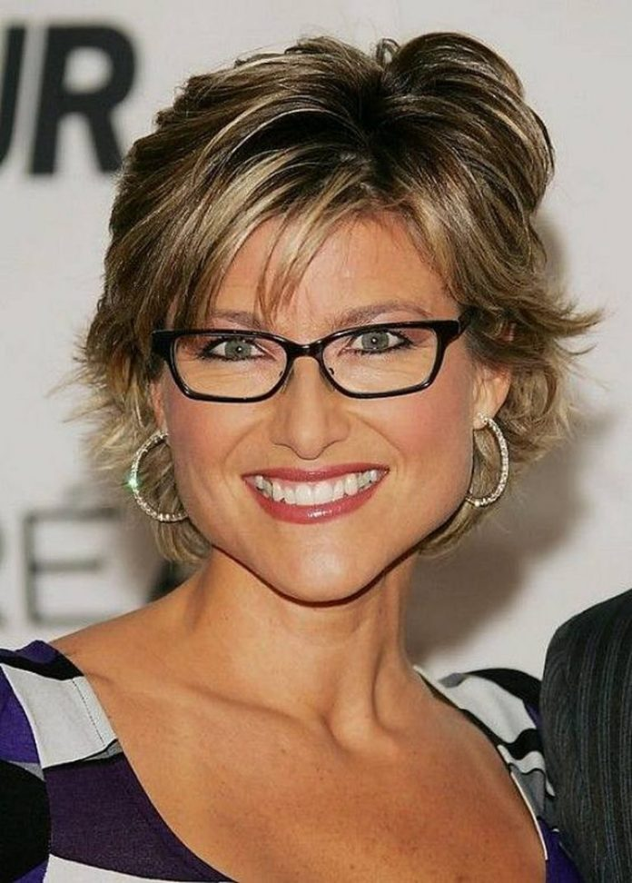 Youthful-Short-Hairstyle-with-Flattering-Fringe Hairstyles for Women Over 50 With Glasses