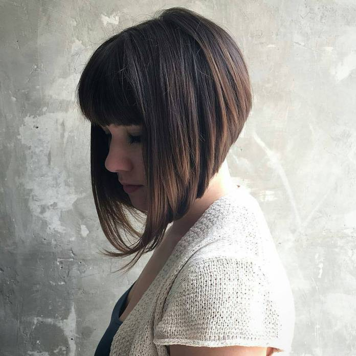 A-Cut-Asymmetrical-Bob Modern Hairstyles for Women to Look Trendy