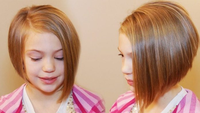 A-Line-Hairstyle-with-Rounded-Back Cute and Adorable Little Girl Haircuts