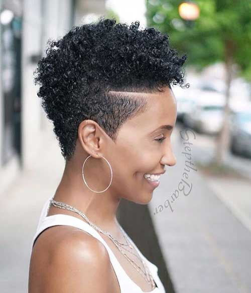 African-American-Female-Short-Pixie-Haircut Latest Short Haircuts for African American Women