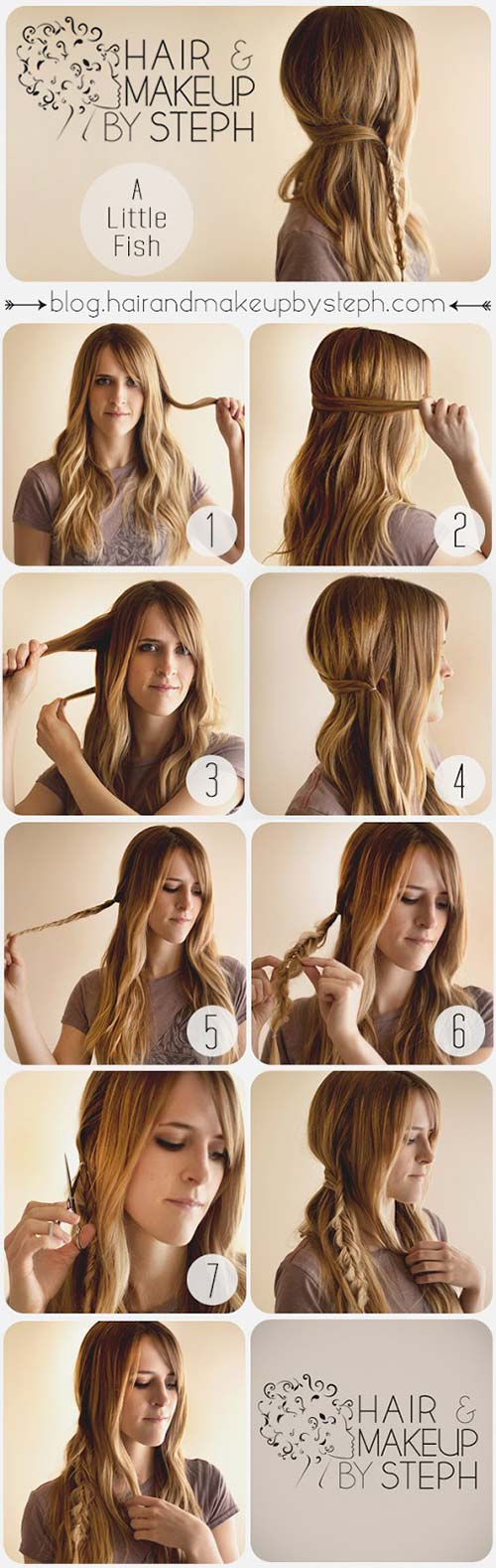 Asymmetrical-Fishtail Awesome Hairstyles For Girls With Long Hair