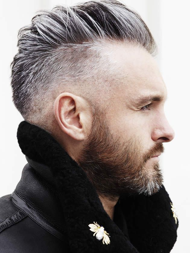 Big-Spikes-with-Undercut Grey Hairstyles for Men to Look Smart and Dashing