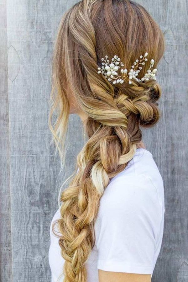 Big-Voluminous-Braid Most Adorable Long Hairstyles with Braids
