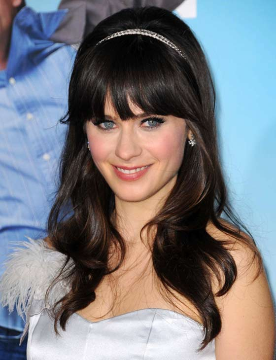 Blunt-Bangs-Accented-By-A-Headband Layered Hairstyles With Bangs