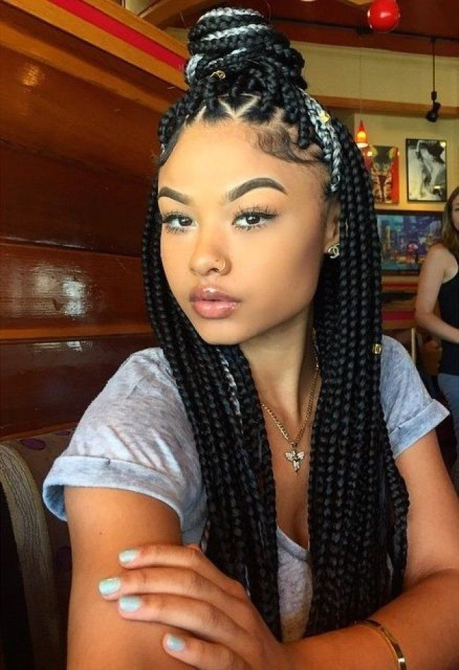 Braided-African-American-Hairstyle Best African American Hairstyles with Color