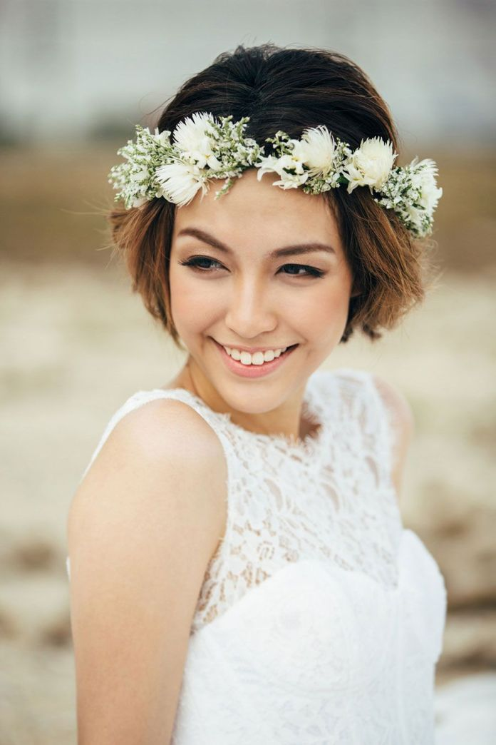 Bridal-Bob-Cut Style Personified Short Hairstyles for Young Women