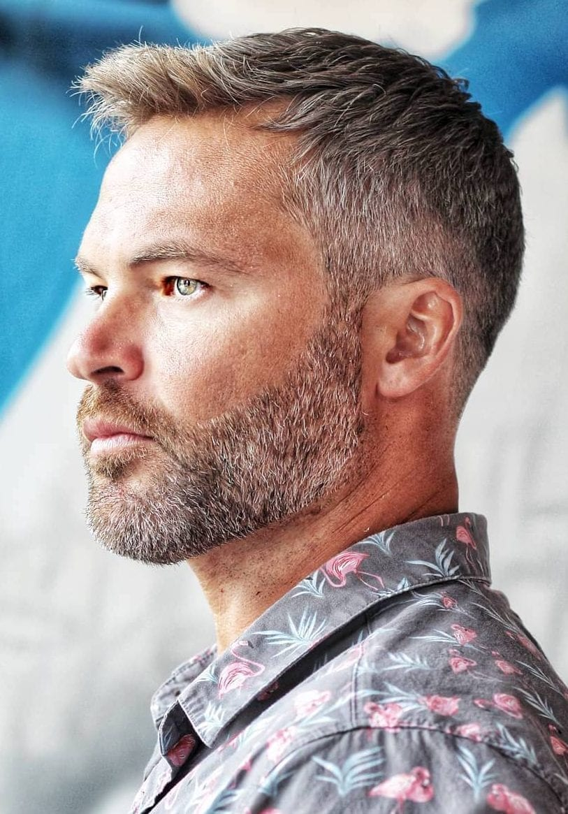 Brush-Up-and-Taper-Grey-Hairstyle Grey Hairstyles for Men to Look Smart and Dashing