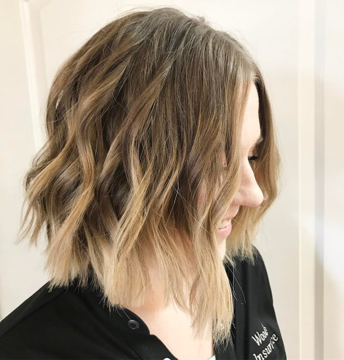 Center-Parted-Upside-Down-Bob Bob Haircuts 2019 for an Outstanding Appearance