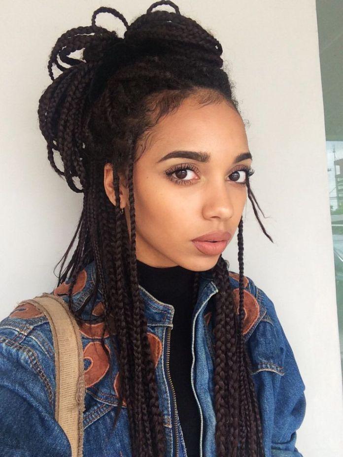 Cute-Braids-Bun-Hairstyle Cute African American Hairstyles for Gorgeous Look