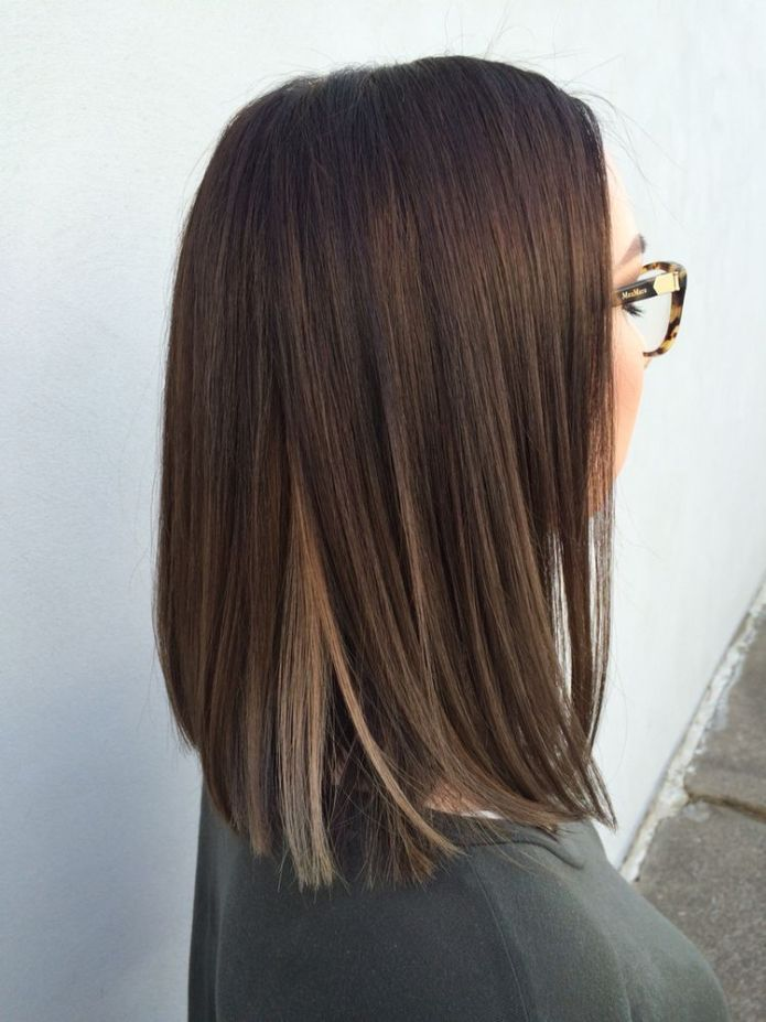 Dark-Brown-Hair-with-Highlights Best and Beautiful Hairstyles with Color