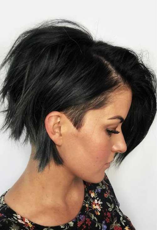 Dark-Brown-Hair New Modern Short Haircuts for 2019