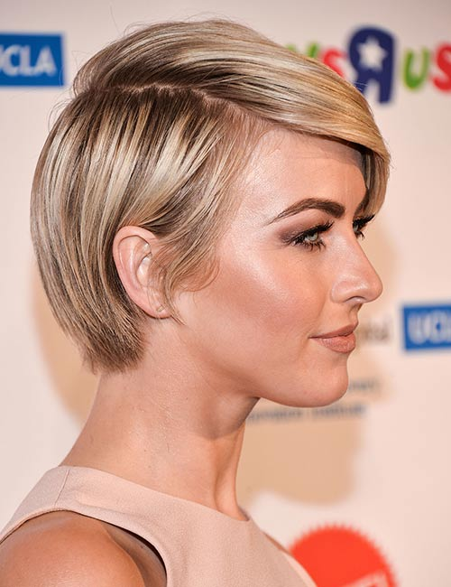 Dark-Rooted-Hair Celebs With Stunning Short Hairstyles