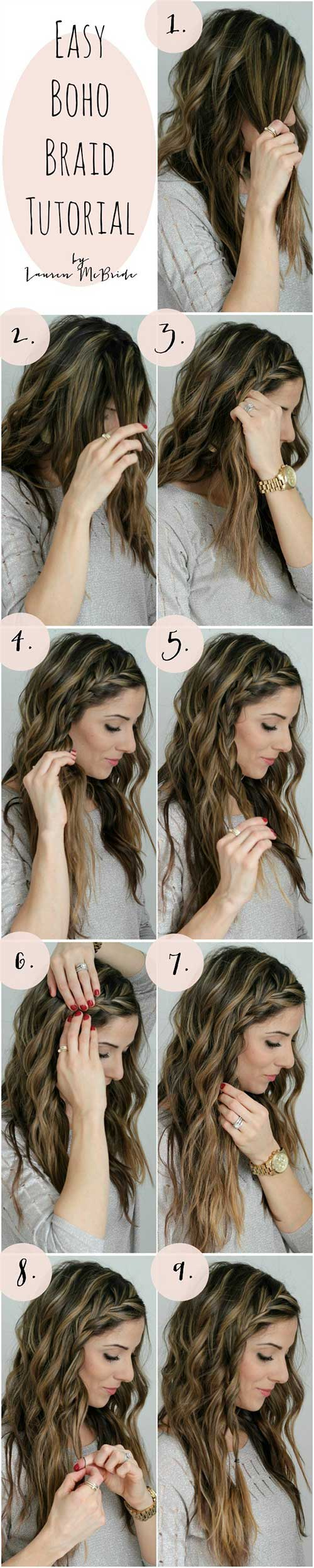 Easy-Boho-Braid Awesome Hairstyles For Girls With Long Hair