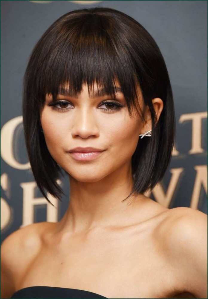 Edgy-Bouncy-Bob-with-Bangs Exclusive African American Bob Hairstyles
