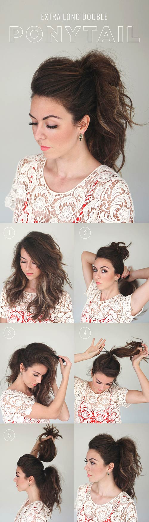 Extra-Long-Double-Ponytail Awesome Hairstyles For Girls With Long Hair