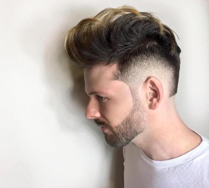 Faux-Hawk-with-Beard-and-Fade Ultra Dashing Medium Hairstyles for Boys