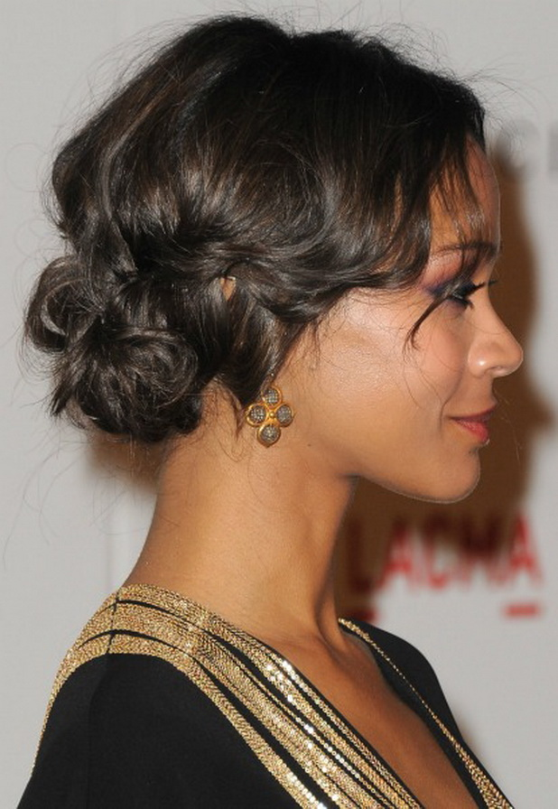 Feathery-Short-Golden-Hair-Pinned-Up-to-form-a-Jumbled-Bun Most Stylish Prom Hairstyles for Black Girls