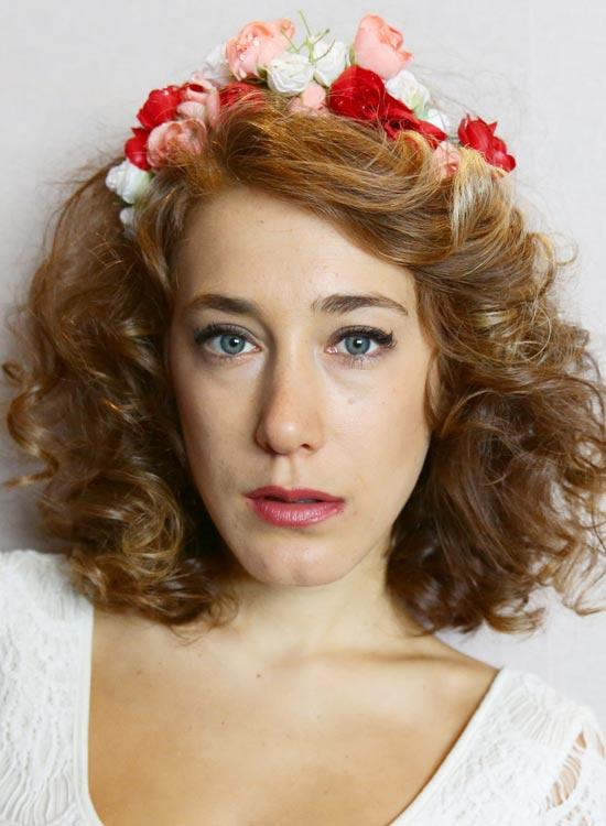 Flowery-'do' Best Hippie Hairstyles