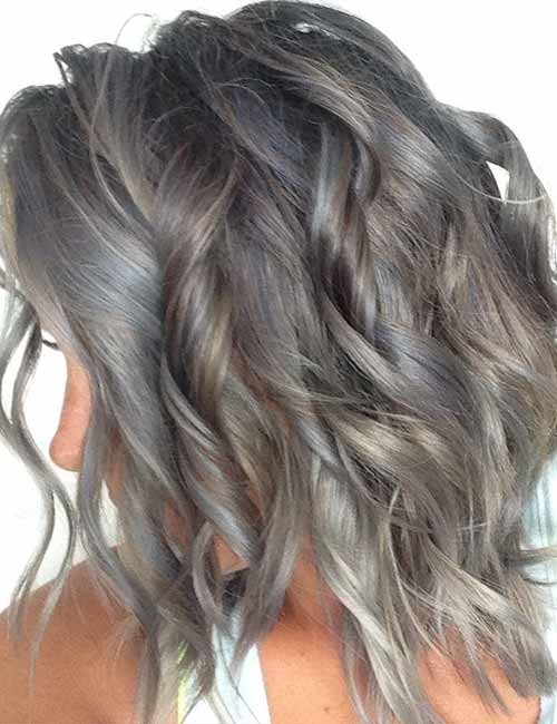 Granite-Gray-Layered-Bob Lovely Styling Ideas For Layered Bob Hair