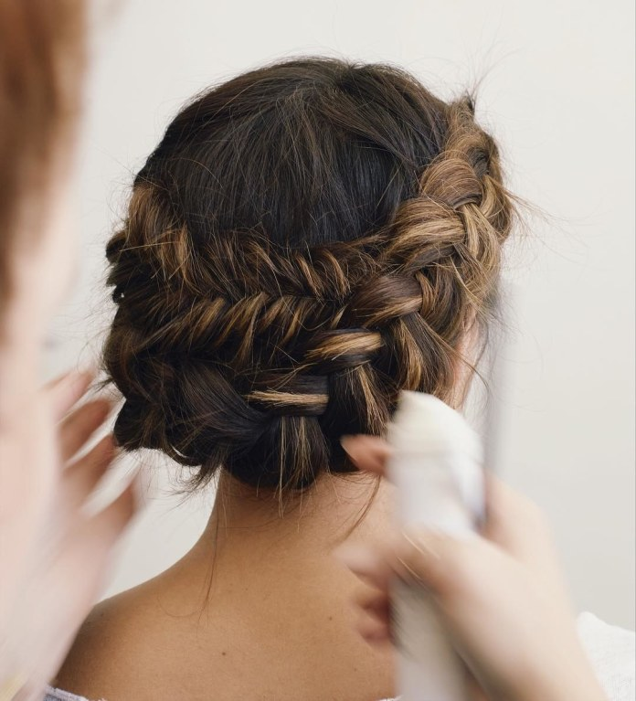 Halo-Braid Most Adorable Long Hairstyles with Braids