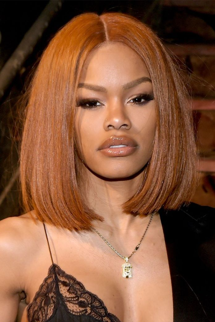 Long-Blunt-with-Burnt-Orange-Global Exclusive African American Bob Hairstyles