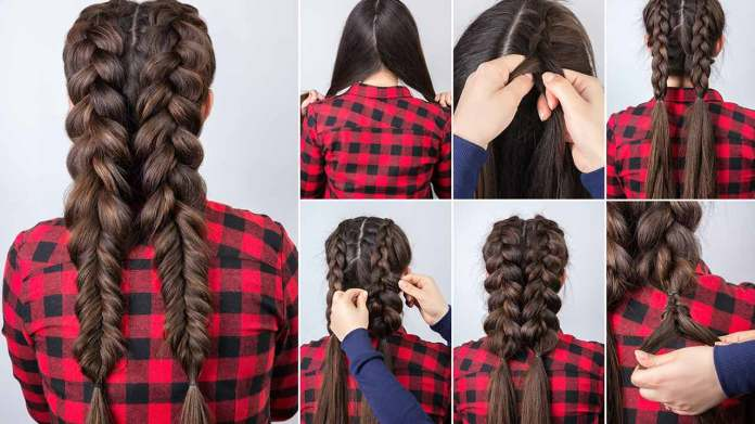 Long-Chunky-Braid Most Adorable Long Hairstyles with Braids