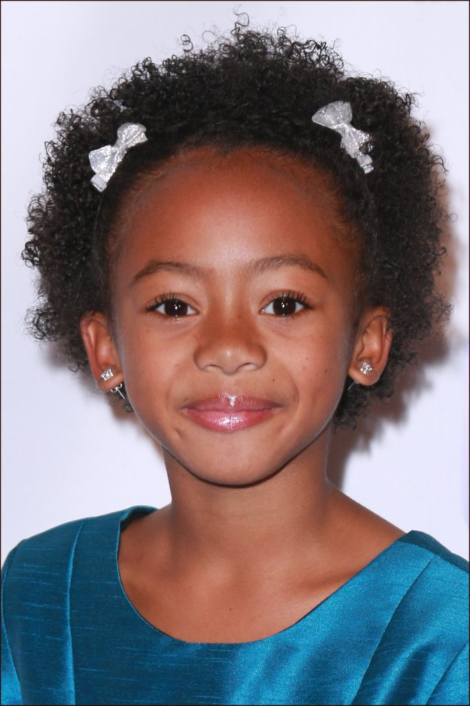 Magical-Short-Hair-with-Brown-African-Perms-Decorated Cutest African American Kids Hairstyles
